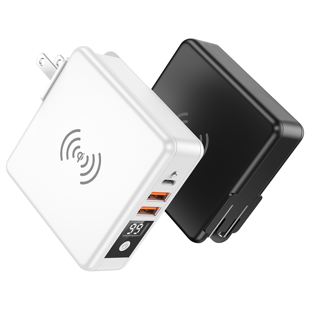 10000mAh Travel Charger with Power Bank